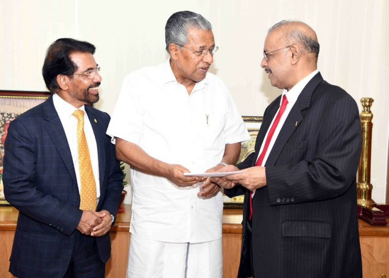 Dr. Muhammed Majeed , Chairman and Managing Director of Sami-Sabinsa Group Donated Rs 3 Crores to Kerala Chief Minister's Distress Relief Fund
