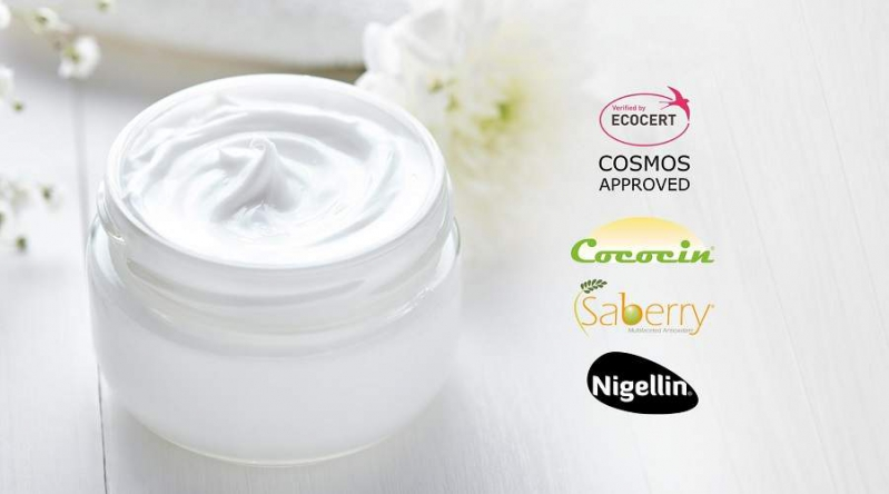 Sami-Sabinsa Cosmeceutical Ingredients COSMOS Approved: Cococin™, Saberry®, and Nigellin® Amber