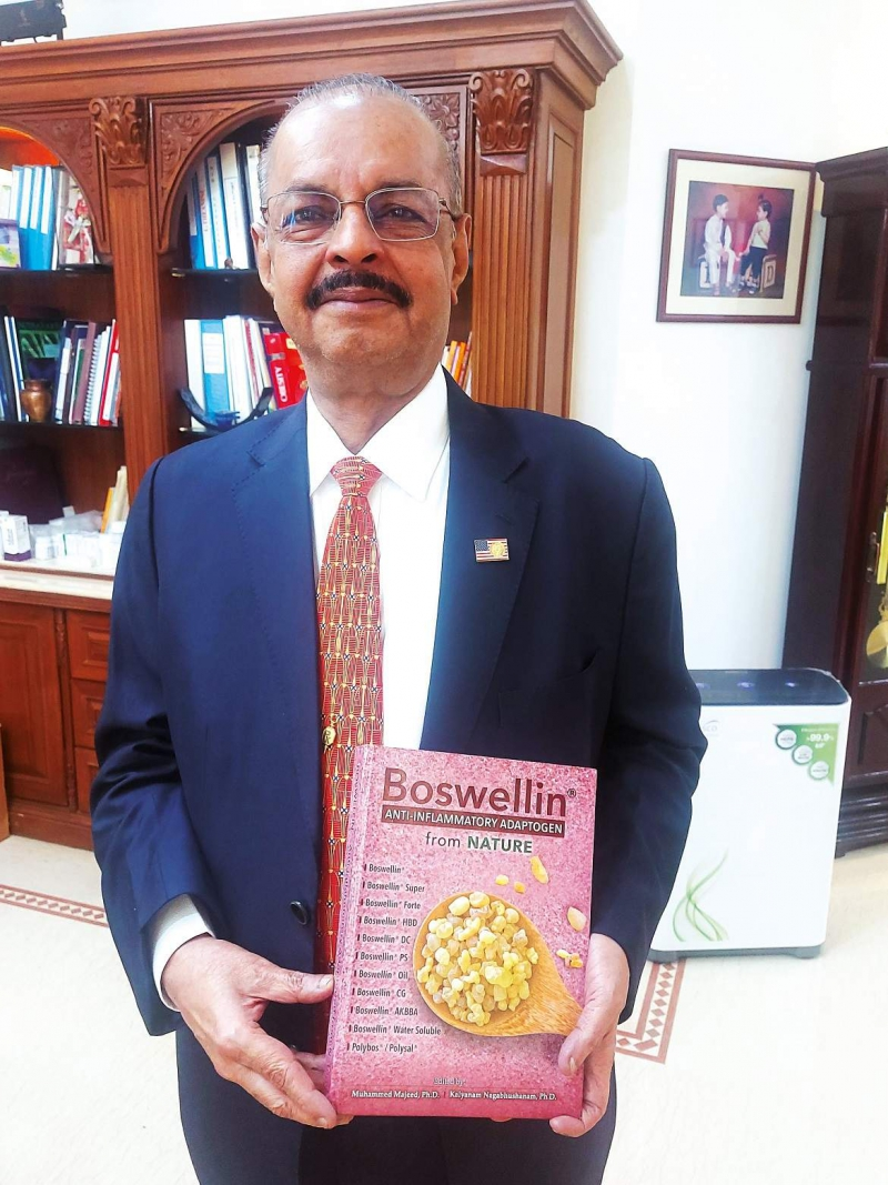 Dr. Muhammed Majeed, Founder and Chairman, Sami-Sabinsa Group Publishes Book on Boswellin®